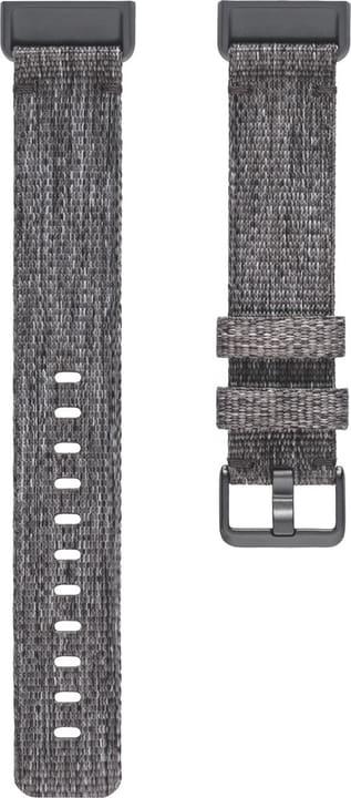 Charge 3 Cinturino in tessuto Nero Large Cinturini Fitbit 785300138599 N. figura 1