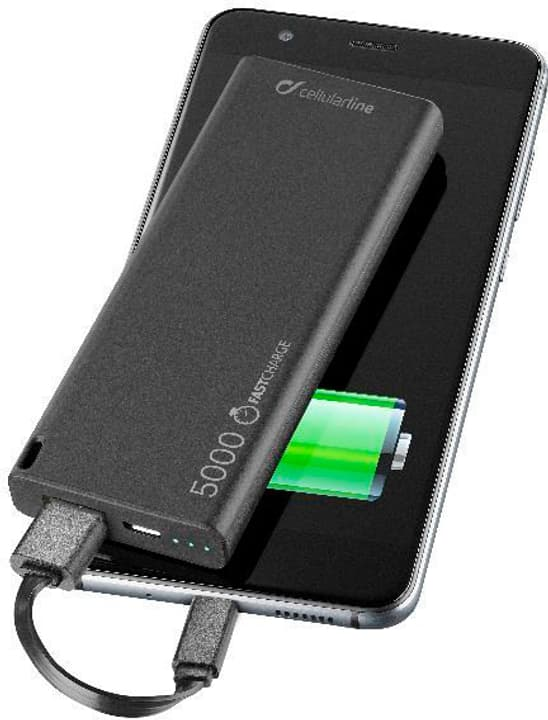 Freepower Slim 5000 mAh noir Powerbank Cellular Line 621530900000 Photo no. 1