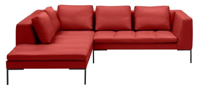 BADER Canapé d'angle 405686150530 Dimensions L: 255.0 cm x P: 230.0 cm x H: 80.0 cm Couleur Rouge Photo no. 1