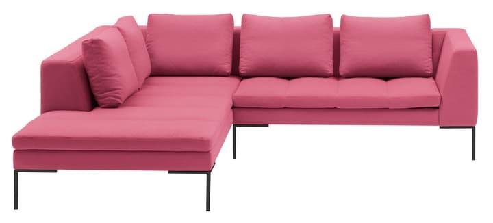 BADER Canapé d'angle 405686450538 Dimensions L: 255.0 cm x P: 230.0 cm x H: 80.0 cm Couleur Rose Photo no. 1