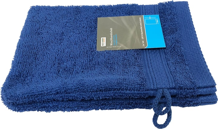 Gant de toilette 2er Set 15x21 cm Do it + Garden 675285600005 Couleur Bleu Taille 15x21 cm Photo no. 1