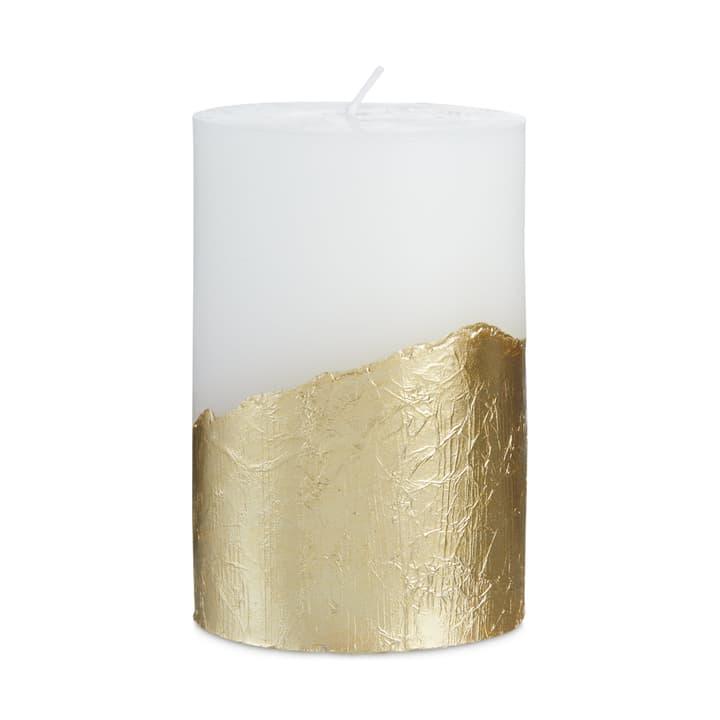 NL Zylinderkerze weiss/gold  D7x10cm 390269600000 Photo no. 1