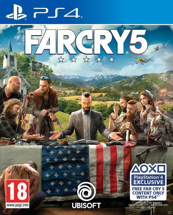 PS4 - Far Cry 5 Physique (Box) 785300128233 Langue Allemand, Français, Italien Plate-forme Sony PlayStation 4 Photo no. 1