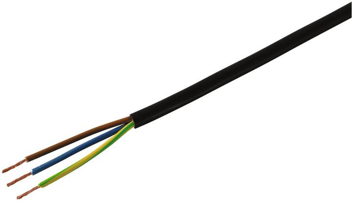 TDLR Kabel (H03VV-F 3x0.75) Mica for you 613136000000 Farbe Schwarz Bild Nr. 1