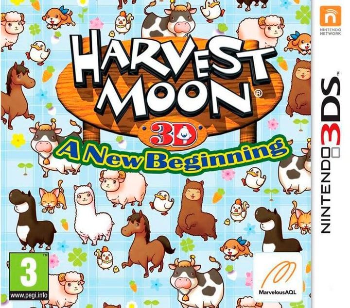 3DS - Harvest Moon A New Begining Box 785300121823 N. figura 1