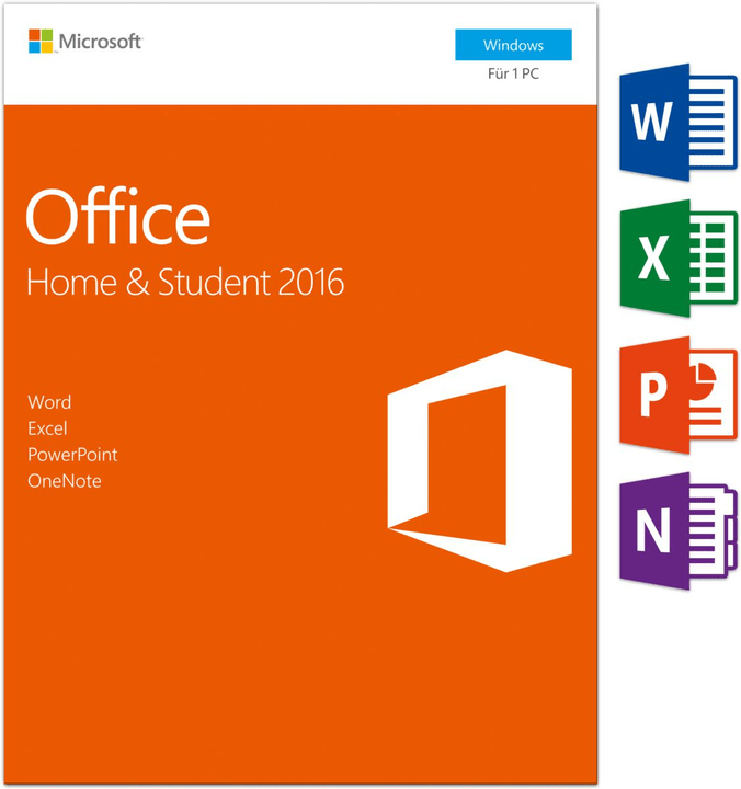Office Home & Student 2016 PC (D) Physisch (Box) Microsoft 785300121049 Bild Nr. 1