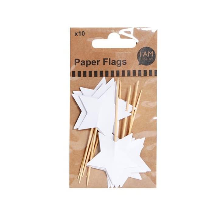 Bandiere di carta, stella, bianche I AM CREATIVE 665560600030 Soggetto Stella bianco N. figura 1