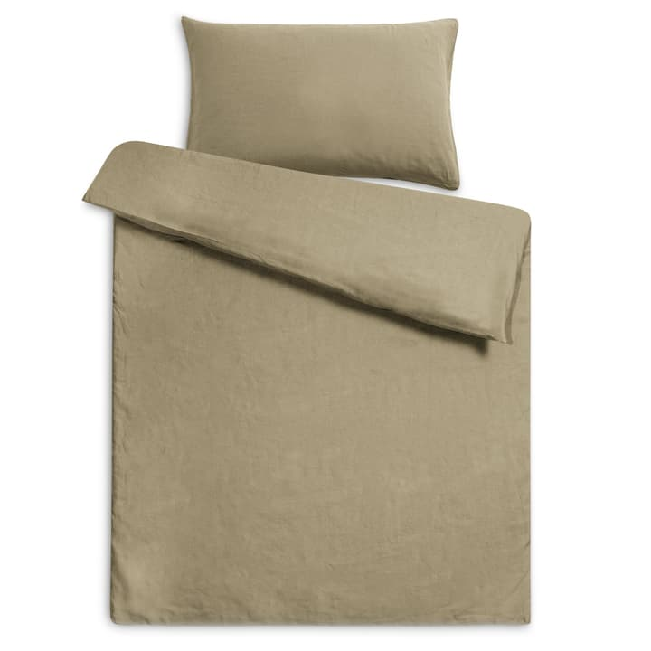 LINEN Taie d'oreiller lin 376073310663 Dimensions L: 65.0 cm x L: 65.0 cm Couleur Vert forestier Photo no. 1