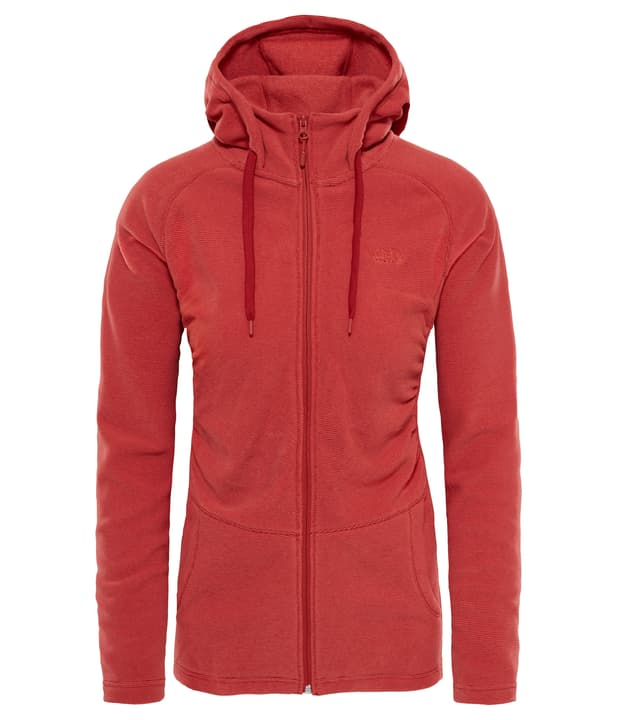 Mezzeluna Full Zip Hoodie Veste en polaire pour femme The North Face 461048400335 Couleur orange foncé Taille S Photo no. 1