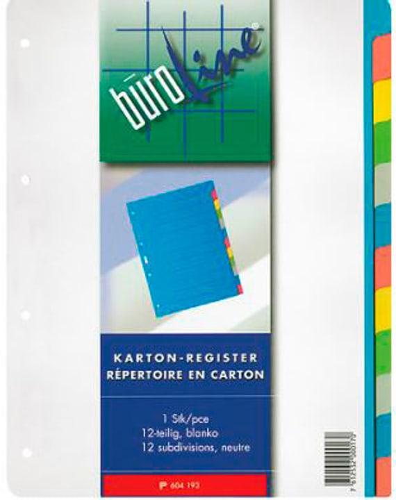 Carton registre multicolor A4 604193 12 pièces Carton registre Büroline 785300150591 Photo no. 1