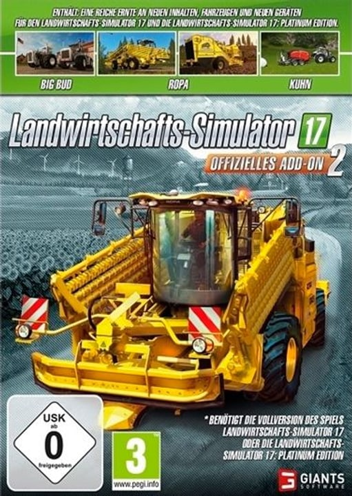 PC - Landwirtschafts Simulator 2017 - Offizielles Add-On 2 (D) Box 785300132696 Photo no. 1