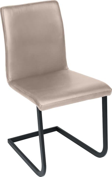 SANTORO Chaise en porte-à-faux 402355700088 Dimensions L: 43.0 cm x P: 55.0 cm x H: 86.0 cm Couleur Gris taupe Photo no. 1