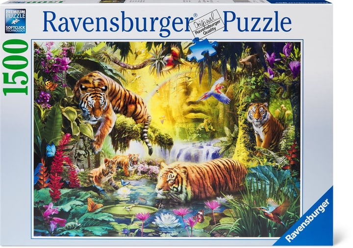 Puzzle Tigres au plan d'eau 1500 748988900000 Photo no. 1