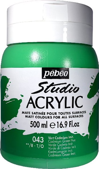 Pébéo High Viscosity Studio 500ml Pebeo 663534271043 Colore Verde Cadmio N. figura 1
