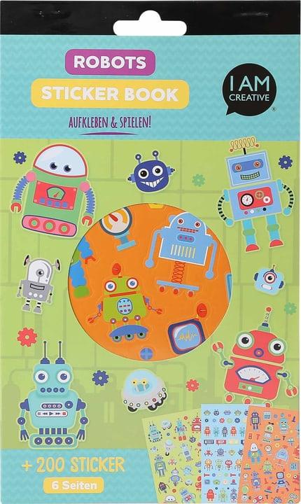 Stickerbook, Robots, 6 foglie 666784500000 N. figura 1