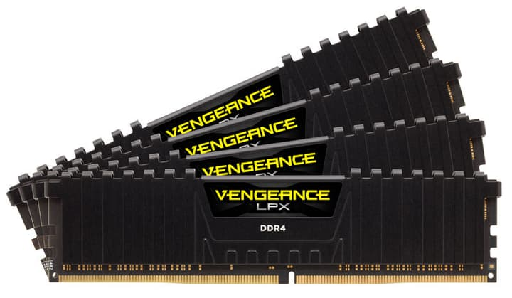 mémoire vive (RAM) Vengeance LPX noir 4x 8Go DDR4 2666 MHz Corsair 785300129186 Photo no. 1