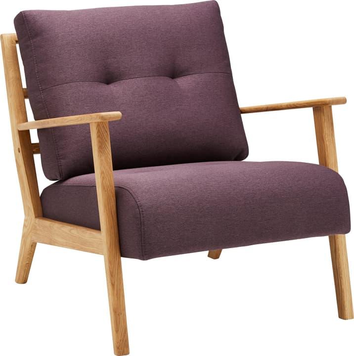 FAUST Sessel 402465200135 Farbe Aubergine Grösse B: 76.0 cm x T: 80.0 cm x H: 78.0 cm Bild Nr. 1