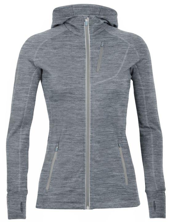 Quantum LS Zip Hood Veste en polaire pour femme Icebreaker 461035500580 Couleur gris Taille L Photo no. 1