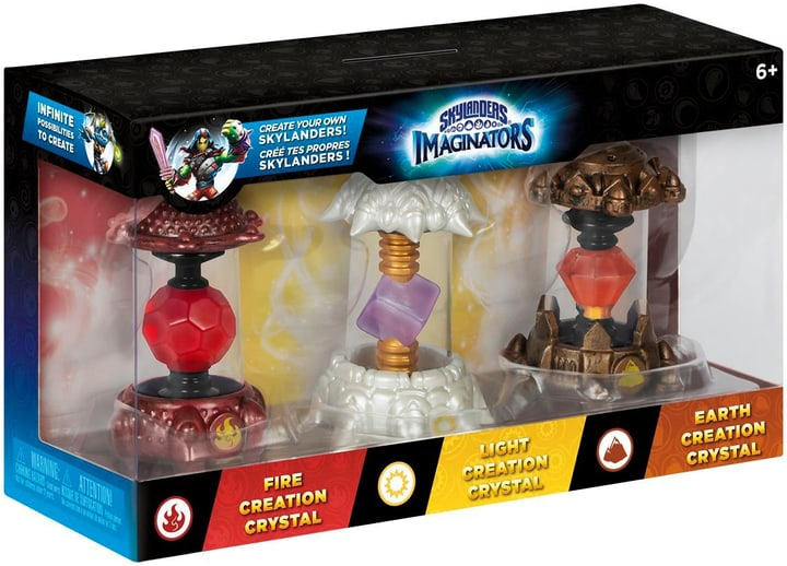 Skylanders Imaginators - Crystals pack en 3 (Earth, Light, Fire) 785300121876 Photo no. 1