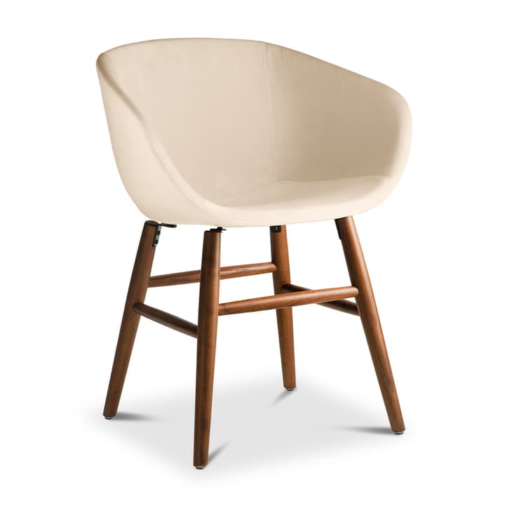SEDIA Stuhl mit Armlehne 366186500000 Grösse B: 45.0 cm x T: 58.0 cm x H: 87.5 cm Farbe Creme Bild Nr. 1