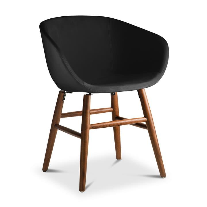 SEDIA Chaise avec accoudoirs 366186600000 Dimensions L: 45.0 cm x P: 58.0 cm x H: 87.5 cm Couleur Noir Photo no. 1