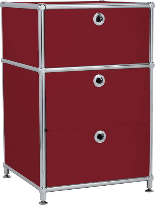 FLEXCUBE Korpus 401808500030 Grösse B: 40.0 cm x T: 40.0 cm x H: 62.5 cm Farbe Rot Bild Nr. 1
