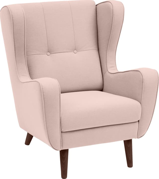 BRAHMS Fauteuil 402462907038 Dimensions L: 80.0 cm x P: 90.0 cm x H: 97.5 cm Couleur Rose Photo no. 1