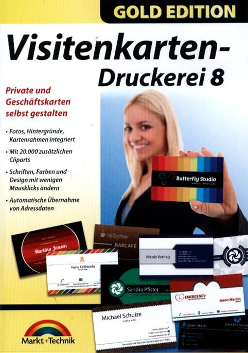 PC Gold Edition: Visitenkarten-Druckerei 8 Physique (Box) 785300122235 Photo no. 1
