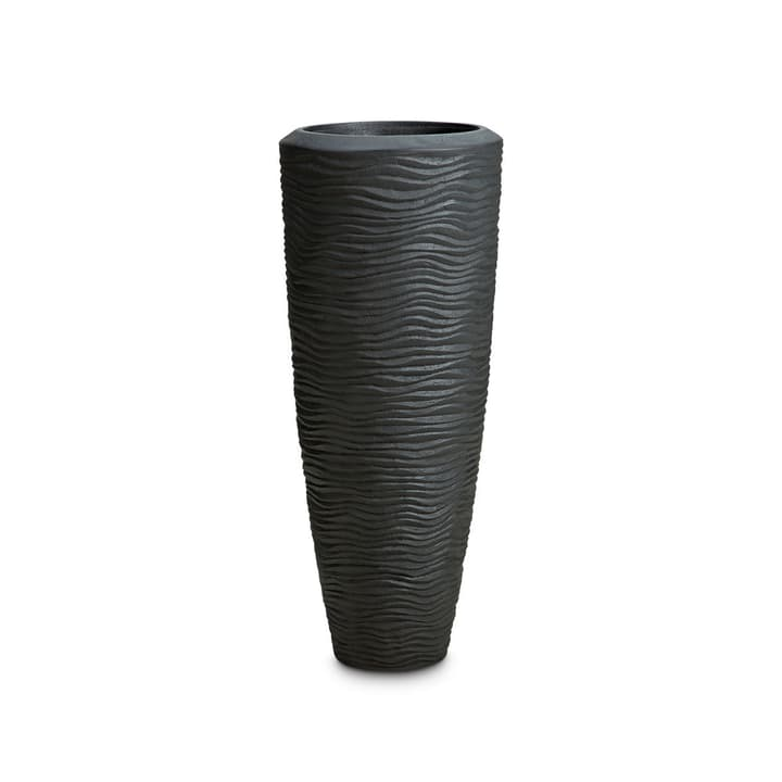 WAVY Cache-pot 382046400000 Dimensions L: 30.0 cm x P: 30.0 cm x H: 70.0 cm Couleur Noir Photo no. 1