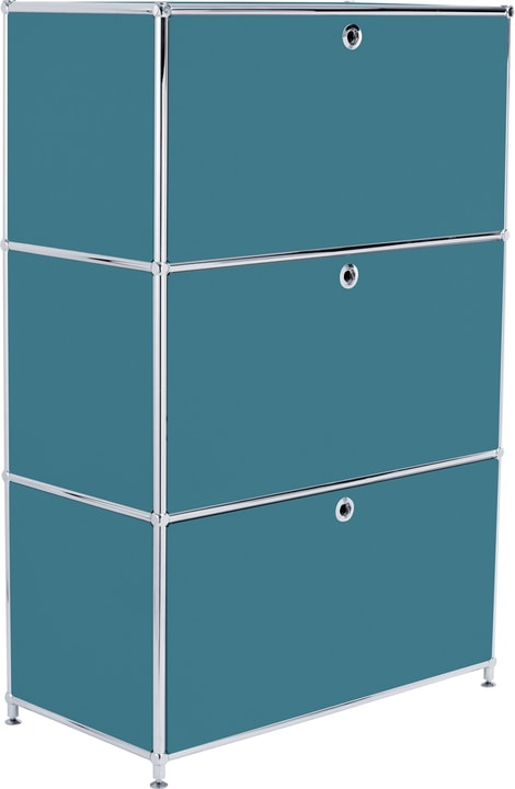 FLEXCUBE Buffet haut 401808700066 Dimensions L: 77.0 cm x P: 40.0 cm x H: 118.0 cm Couleur Pétrole Photo no. 1