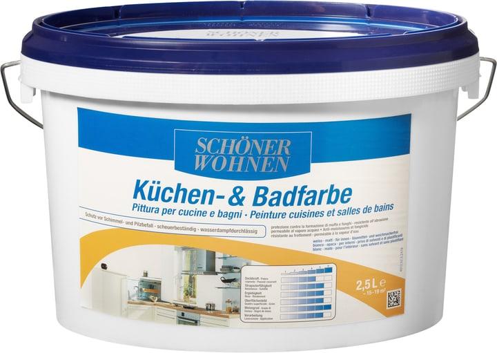 Küchen- und Badfarbe Weiss 2.5 l Schöner Wohnen 660912700000 Farbe Weiss Inhalt 2.5 l Bild Nr. 1