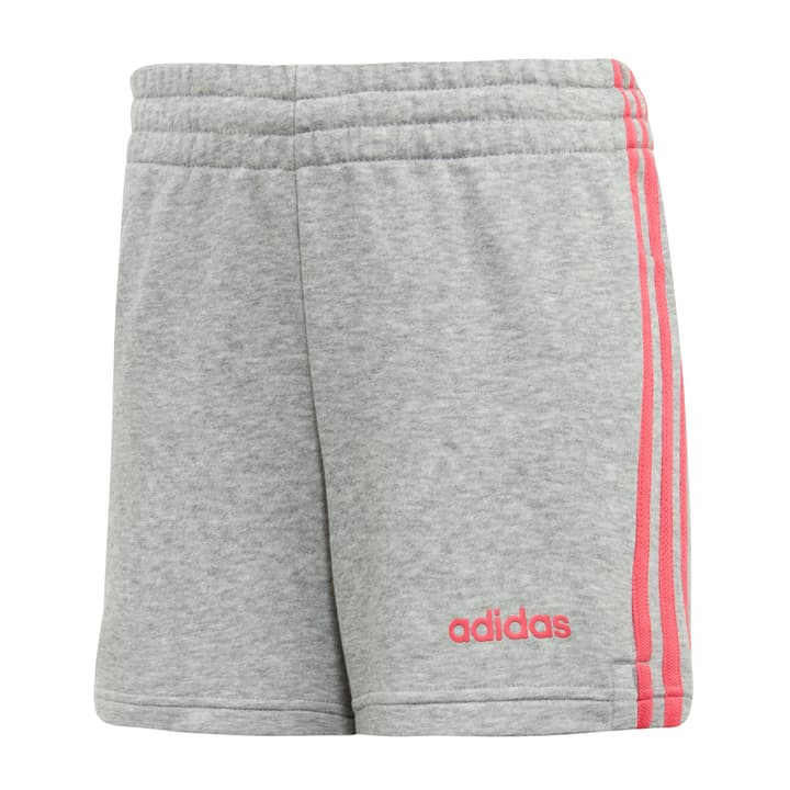 Essentials 3-Streifen Shorts Short pour fille Adidas 466938614080 Couleur gris Taille 140 Photo no. 1