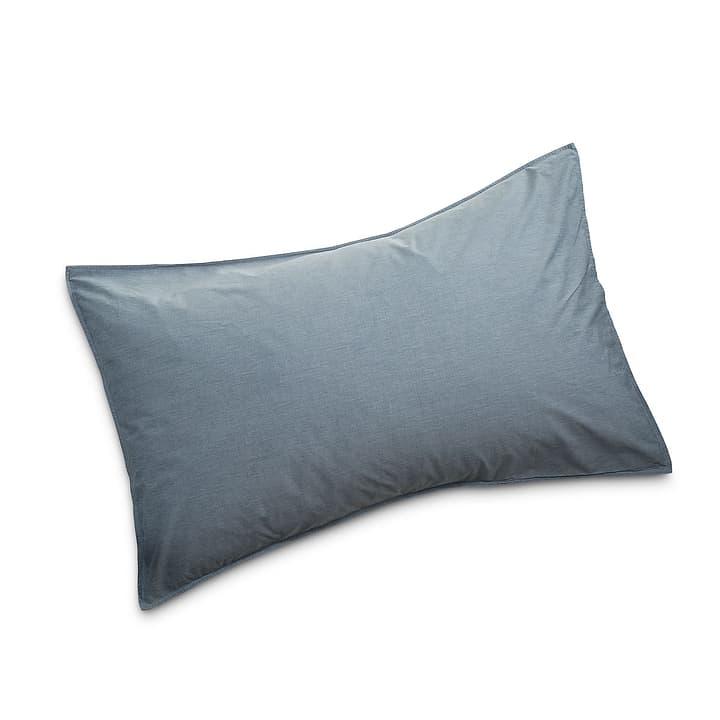ATRIA Taie d'oreiller 376024158803 Couleur Bleu Dimensions L: 100.0 cm x L: 65.0 cm Photo no. 1