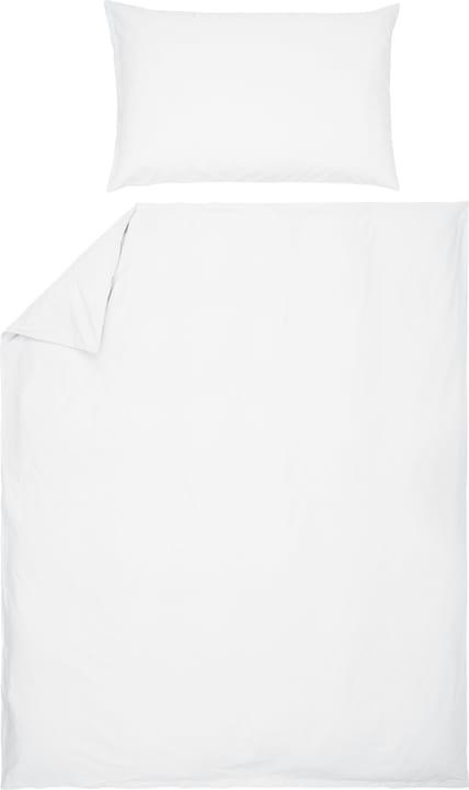 ROMANO Fourre de duvet en percale 451251312310 Couleur Blanc Dimensions L: 160.0 cm x H: 210.0 cm Photo no. 1