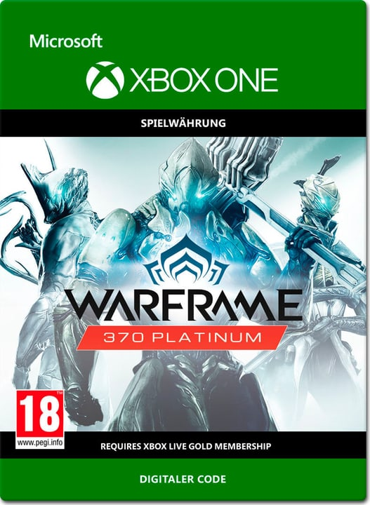 Xbox One - Warframe: 370 Platinum Download (ESD) 785300137307 Photo no. 1