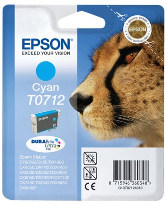 T071240 Tintenpatrone cyan Epson 797483000000 Bild Nr. 1