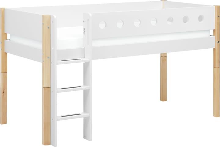 WHITE Lit mi-hauteur Flexa 404913800000 Couleur Bouleau Dimensions L: 109.0 cm x P: 210.0 cm x H: 120.0 cm Photo no. 1