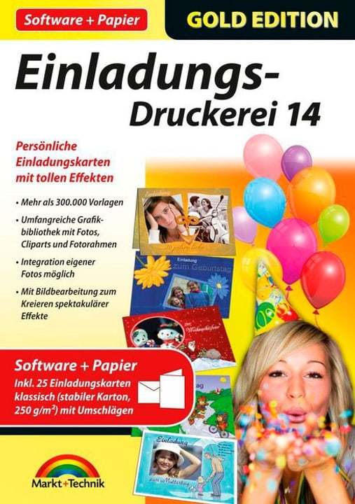 Gold Edition: Einladungs-Druckerei 14 mit Papier Physique (Box) 785300122230 Photo no. 1