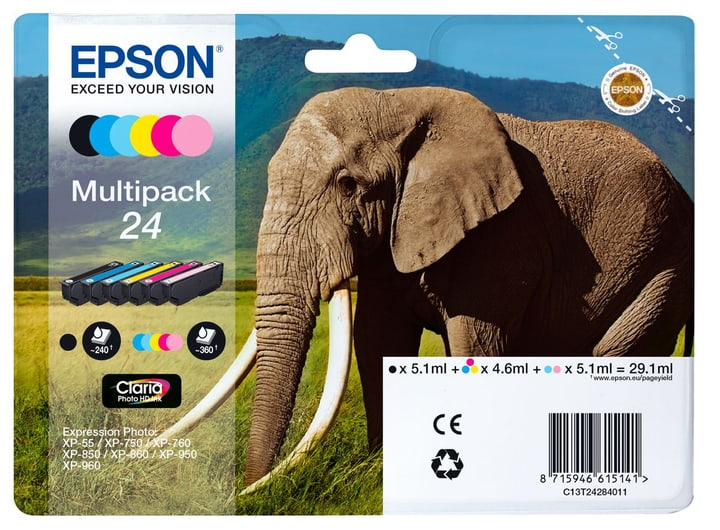 T24 cartuccia d'inchio Multipack 6-color Cartuccia d'inchiostro Epson 798509500000 N. figura 1