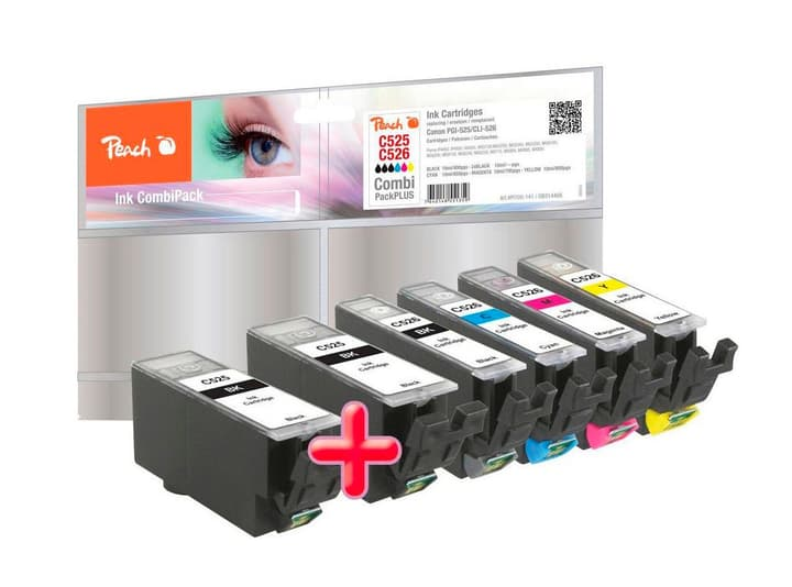 Combi PackPLUS n zu CLI-526/PGI-525 Tintenpatrone Peach 785300124656 Bild Nr. 1