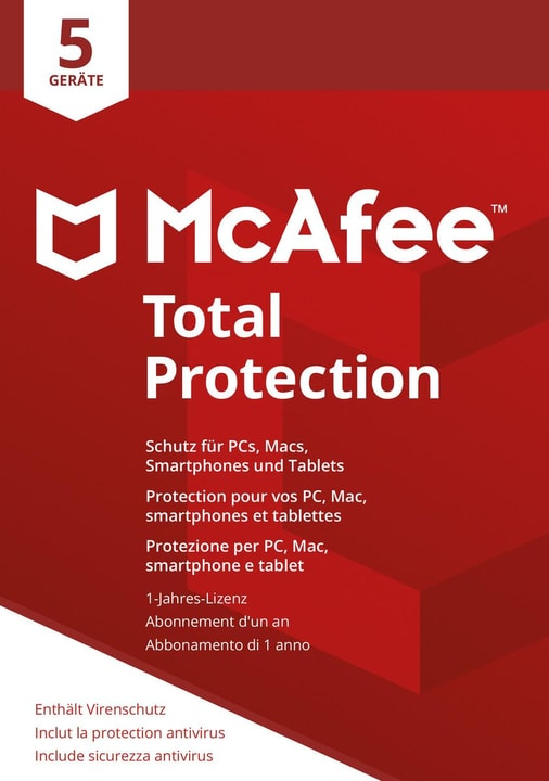 Total Protection 2018 5 Devices Mc Afee 785300131280