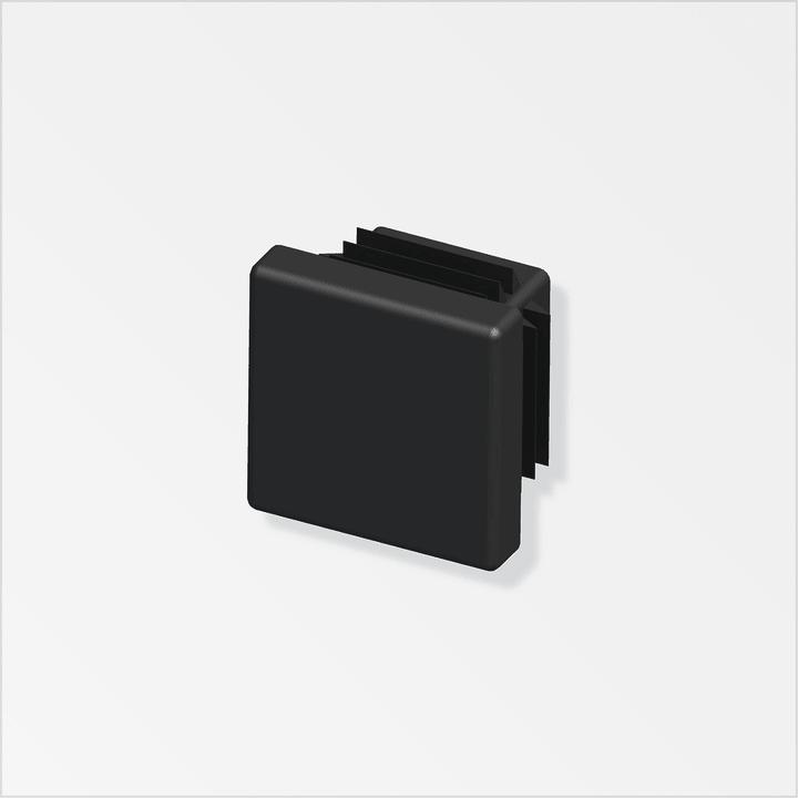 Stopfen quadratisch 19.5mm PE schwarz 2Stk. alfer 605029700000 Art Quadratrohre Grösse 19,5 mm Bild Nr. 1