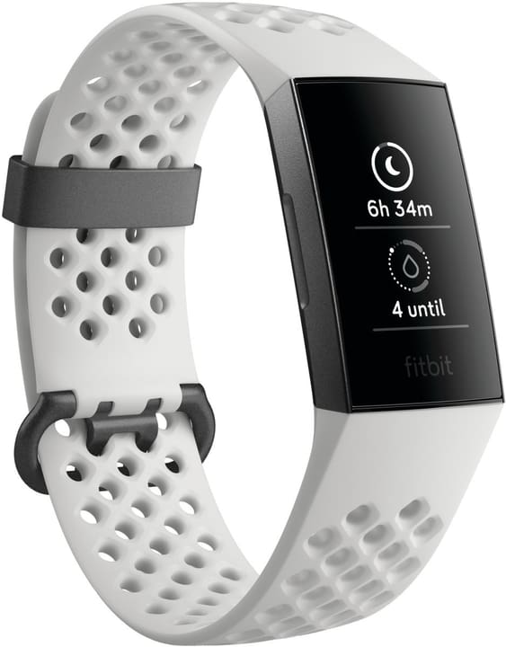 Charge 3 Graphite/White Special Edition (NFC) Activity Tracker Fitbit 798452100000 Photo no. 1