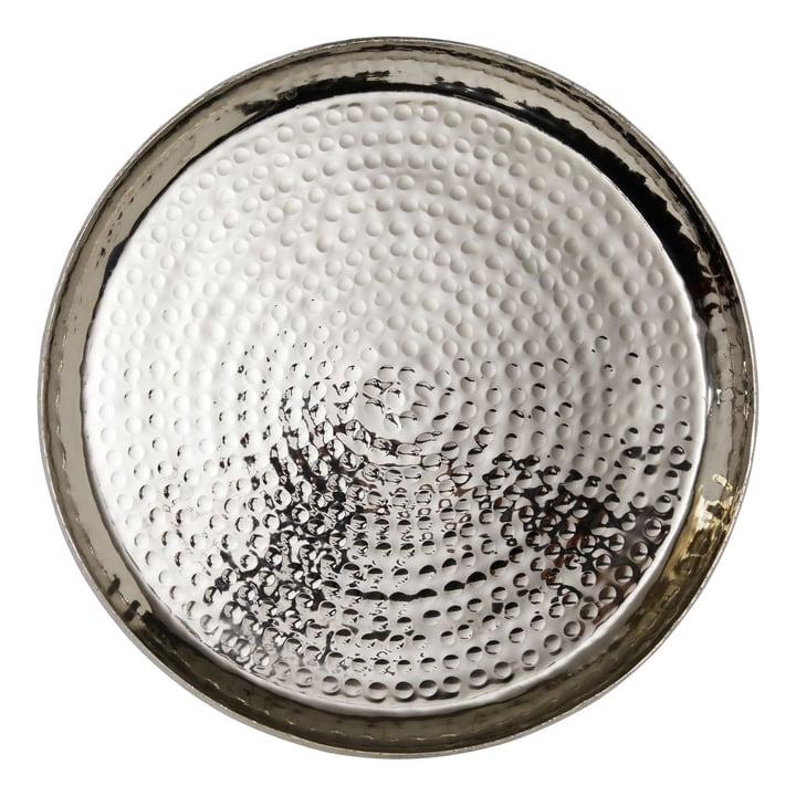 NISA Dekoschale 390212800000 Grösse B: 43.0 cm x T: 43.0 cm x H: 6.0 cm Farbe Silberfarben Bild Nr. 1