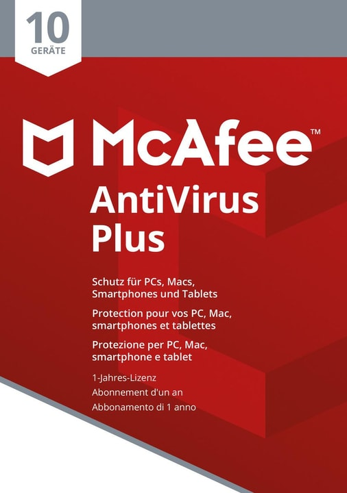 AntiVirus Plus 2018 10 Devices Physique (Box) Mc Afee 785300131275 Photo no. 1