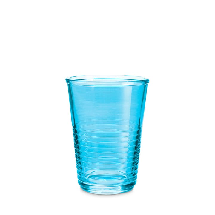 MACAO Trinkglas 393013900000 Grösse B: 8.0 cm x T: 8.0 cm x H: 10.5 cm Farbe Blau Bild Nr. 1