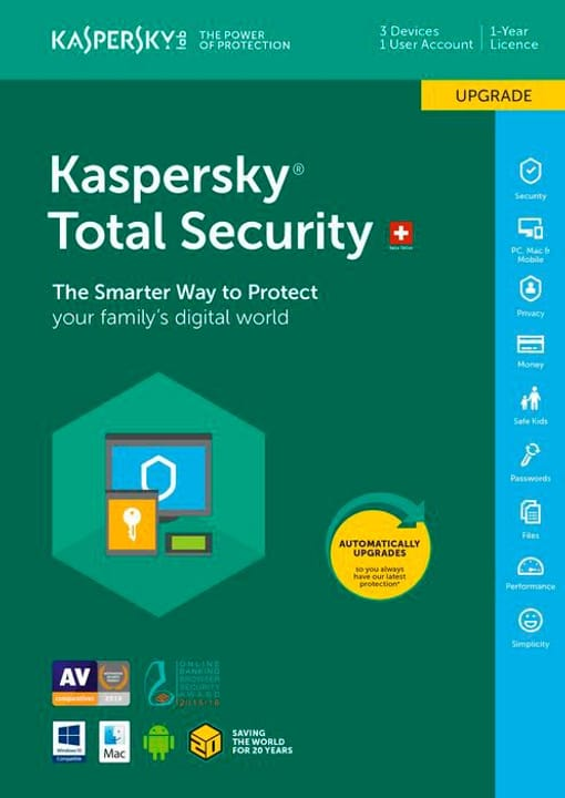 PC / Mac / Android Total Security Upgrade Physique (Box) Kaspersky 785300129054 Photo no. 1