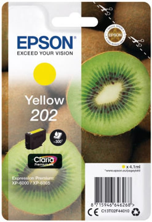 Epson cartouche d'encre 202 jaune Epson 798549200000 Photo no. 1