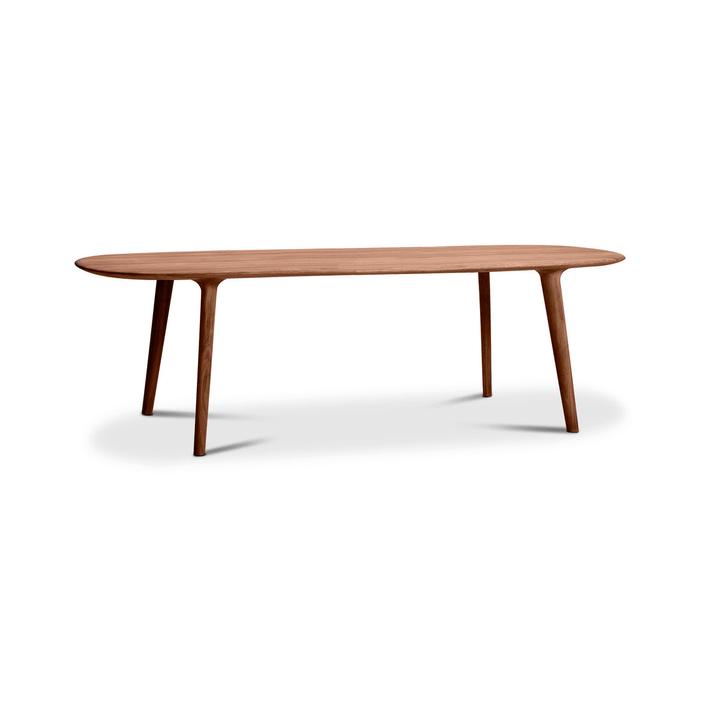 LUC Table noyer 366029824201 Dimensions L: 245.0 cm x P: 100.0 cm x H: 75.0 cm Couleur Noyer Photo no. 1