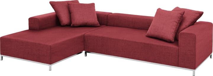 MEMPHIS Canapé d'angle 405743050130 Dimensions L: 290.0 cm x P: 190.0 cm x H: 60.0 cm Couleur Rouge Photo no. 1